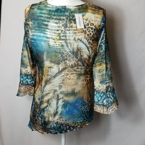 Dress Barn Tops - Dressbarn NWT Leftside Sharktail Sz Small